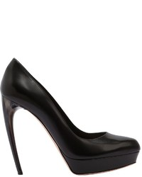 Alexander McQueen 125mm Leather Pumps W Hand Painted Heel