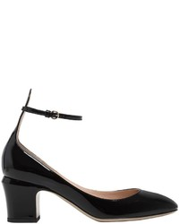 Valentino 60mm Tan Go Patent Leather Pumps