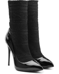 Alexander McQueen Patent Leather Pumps With Sock