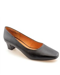Auditions Classical Black Leather Pumps Heels Shoes Newdisplay