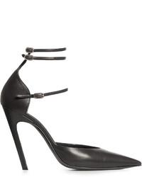 Balenciaga Slash Triple Strap Leather Pumps