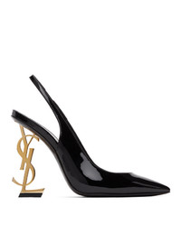 Saint Laurent Black Opyum Slingback Heels
