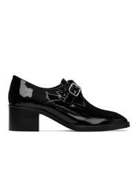 Dorateymur Black Patent College Monk Loafer Heels