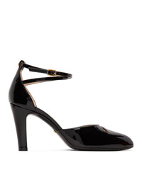 Gucci Black Patent Indy Heels