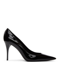 Saint Laurent Black Patent Lexi 90 Heels