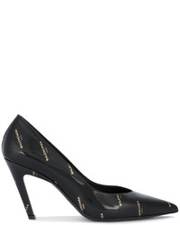 Balenciaga Black Patent Slash 100 Pumps