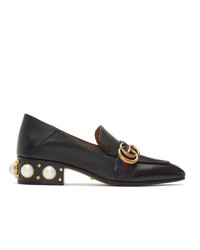 Gucci Black Peyton Pearl Loafer Heels