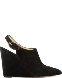 Amélie Pichard Black Pointed Toe Nicolle Wedges
