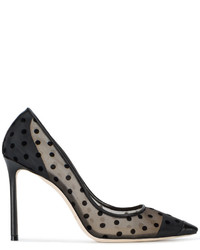Jimmy Choo Black Polka Dot Romy 100 Pumps