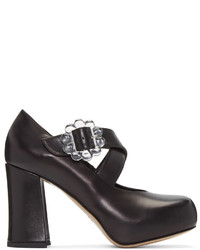 Simone Rocha Black Transparent Buckle Heels