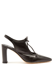 The Row Camil Leather Slingback Pumps