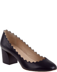 Chloé Chlo Scallop Pump Black Leather