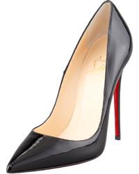 Christian Louboutin So Kate Patent Leather Point Toe Pump Black