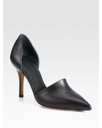 Vince Claire Choked Up Leather Dorsay Pumps