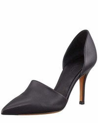 Vince Claire Two Piece Leather Pump Black