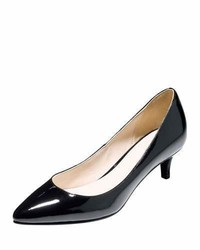 Cole Haan Juliana Low Heel Patent Pump Black