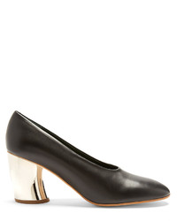 Proenza Schouler Curved Heel Leather Pumps