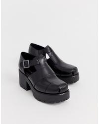 Vagabond Dioon Black Leather Ed Shoes
