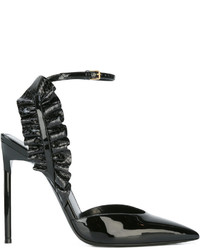 Saint Laurent Edie 110 Leaf Slingback Pumps