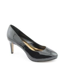 Ellen Tracy Ella Black Patent Leather Pumps Heels Shoes