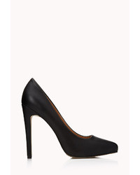 Forever 21 Classic Faux Leather Pumps