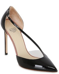 Francesco Russo 105mm Asymmetric Patent Leather Pumps