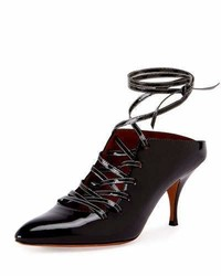 Givenchy Patent Lace Up 80mm Pump Black