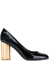Salvatore Ferragamo Gold Heel Pumps