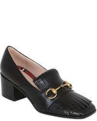 Gucci 55mm Polly Fringed Leather Pumps