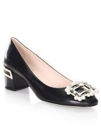 Roger Vivier Isadora Leather Pumps