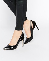 Ted Baker Jiena Patent Cut Out Heeled Pumps