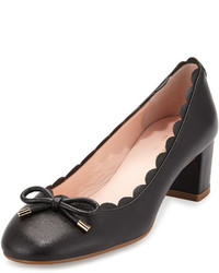 Kate Spade New York Yasmin Scalloped Leather Pump Black