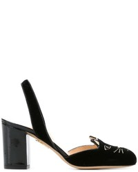 Charlotte Olympia Kitty Sling Back Pumps