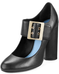 Lanvin Leather Mary Jane 105mm Pump Black