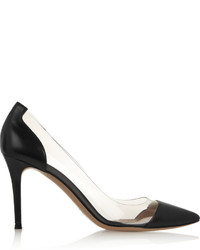 Gianvito Rossi Leather And Pvc Pumps Black