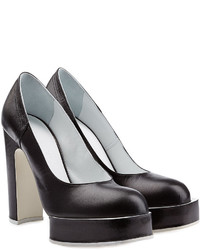 Jil Sander Leather Platform Pumps