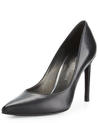 Stuart Weitzman Legend Leather Pointed Toe Pump