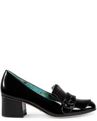 Gucci Marmont Patent Leather Mid Heel Pump