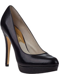 MICHAEL Michael Kors Michl Michl Kors York Platform Pump Black Leather