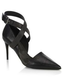 Brunello Cucinelli Monili Leather Pumps
