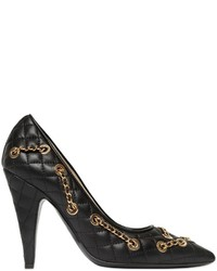 Moschino 100mm Chained Quilted Leather Pumps