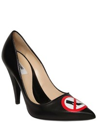 Moschino 100mm No Heels Leather Pumps