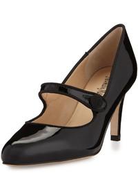 Neiman Marcus Joetta Patent Mary Jane Pump Black