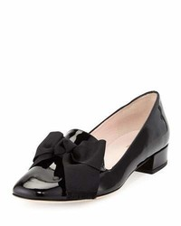 Kate Spade New York Gino Velvet Bow Loafer Pump Black