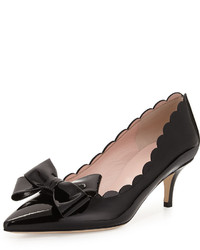 Kate Spade New York Maxine Patent Scalloped Bow Pump Black