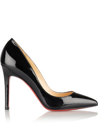 Christian Louboutin Pigalle 100 Patent Leather Pumps Black