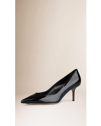 Burberry Point Toe Patent Leather Pumps