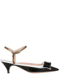 Rochas 50mm Patent Leather Kitten Pumps