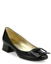 Roger Vivier Decollete Belle De Nuit Patent Leather Pumps