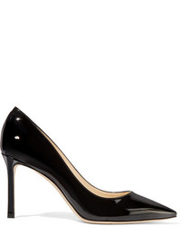 Jimmy Choo Romy 85 Patent Leather Pumps Black